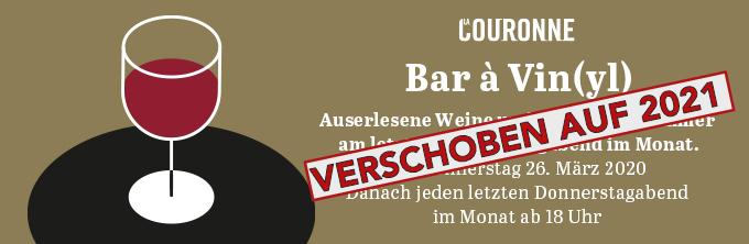 Le Bar à Vin[yl] La Couronne, Solothurn